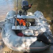 Продам лодку Кайман 275+мотор Парсун 2, 6 четырёх тактный 2010г, в, отлич